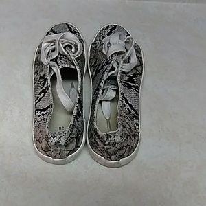 Snake skin sneakers